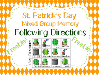 St. Patrick's Day Mixed Group Memory - Following Direction
