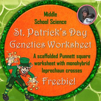 St. Patrick's Day Monohybrid Crosses Punnett Square Worksh