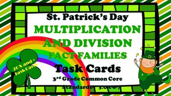 St. Patrick's Day Multiplication and Division Fact Family
