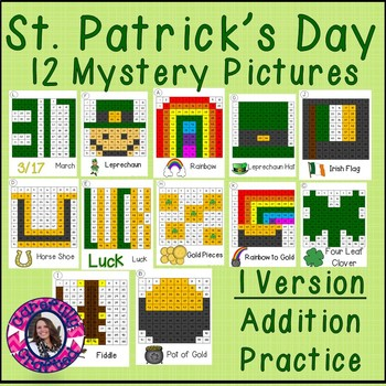 St. Patrick's Day Mystery Pictures- Hundreds Chart Additio