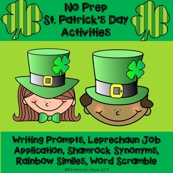St. Patrick's Day No Prep Activities - St. Patrick's Day W