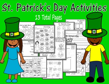 St. Patrick's Day Printables-Sightwords, Counting, Writing