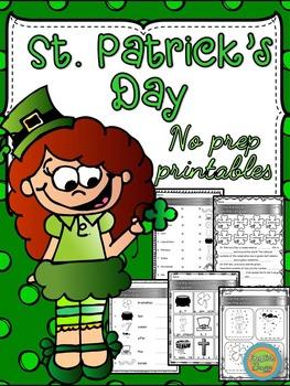 St. Patrick's Day - No prep printable activities