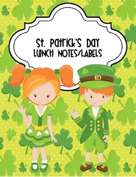 St. Patrick's Day Notes and Labels