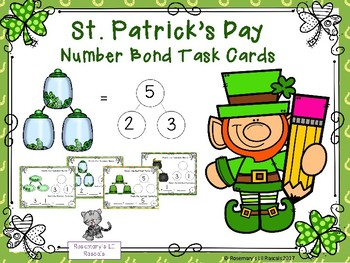 St. Patrick's Day Number Bond Task Cards - Addition Sums to 5