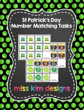 St Patrick's Day Number Match Folder Games for Early Child