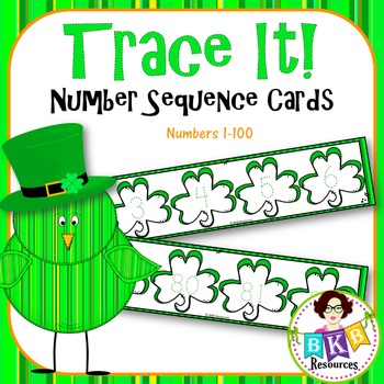 St.Patrick's Day Number Sequence Tracing Cards