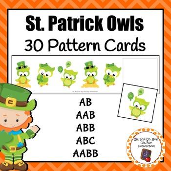 St. Patrick's Day Owl Pattern Cards