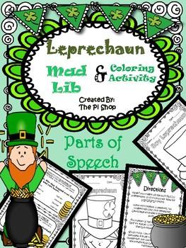 St. Patrick's Day Parts of Speech {NO PREP}{Mad Lib Colori