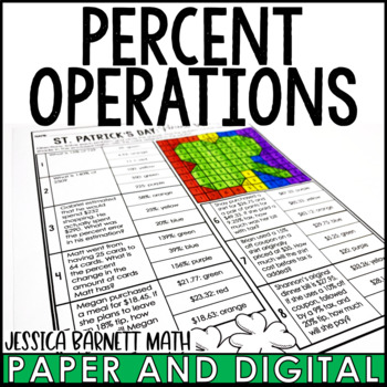 St. Patrick's Day Math Activity: Percent Operations Review