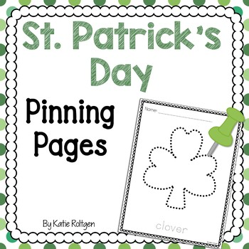 St. Patrick's Day Pinning or Tracing Pages