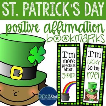 St. Patrick's Day Positive Affirmation Bookmarks - Element