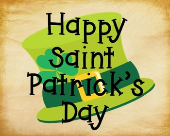 St. Patrick's Day Poster, Class Decor, Holiday Sign, Bulle