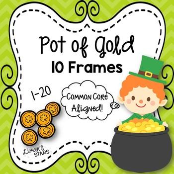 St. Patrick's Day Pot of Gold 10 Frames