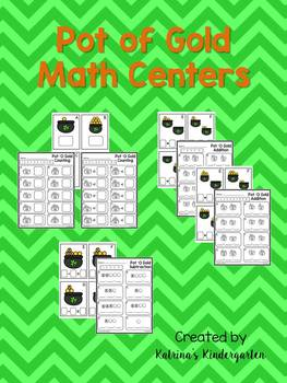 St. Patrick's Day Pot of Gold Math Centers