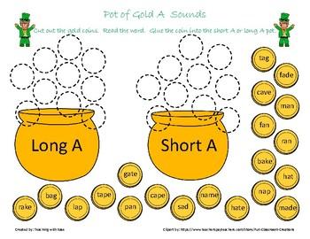St. Patrick's Day: Pot of Gold Vowel Sounds Bundle