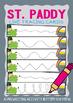 St Patrick's Day Prewriting Write n Wipe Cards