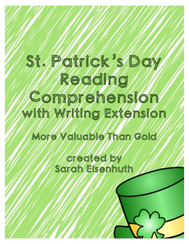 St. Patrick's Day Reading Comprehension with Writing Extention