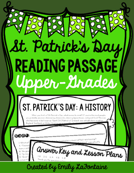 St. Patrick's Day Reading Comprehension Passage
