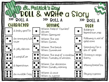 St. Patrick's Day Roll a Story
