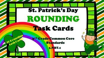 St. Patrick's Day Rounding Task Carks