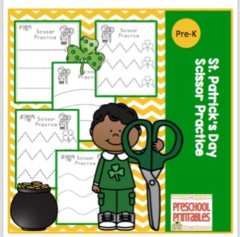 St. Patrick's Day Scissor Practice