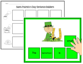 St. Patrick's Day Sentence Scramble Mats & Tiles - Differe