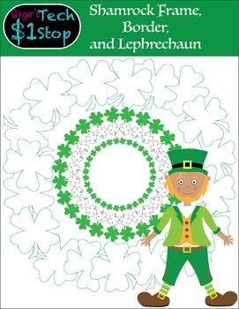 St. Patrick's Day * Shamrock Borders * Frames * 4-leaf Clo