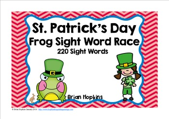 St. Patrick's Day Sight Word Race