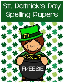 St. Patrick's Day Spelling Papers
