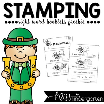 St. Patrick's Day Stamping Booklet