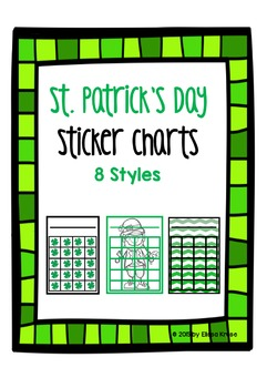 St. Patrick's Day Sticker Charts {8 colorful styles}