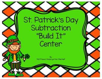St. Patrick's Day Subtraction Build It Center