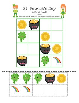 St. Patrick's Day Sudoku Puzzle (Easy Level)