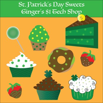 St. Patrick's Day * Sweets * Cupcake * Lollipop * Clipart