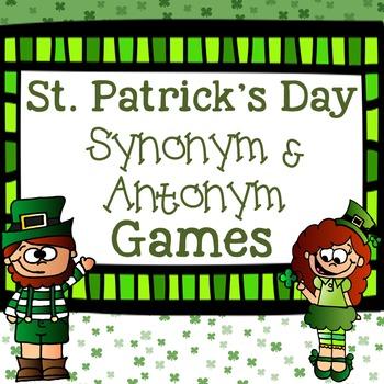 St. Patrick's Day Synonym and Antonym Games