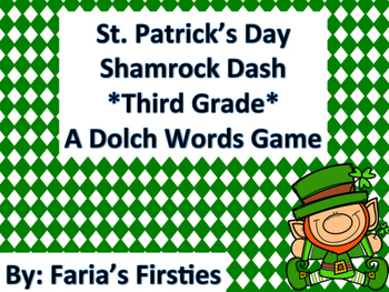 St. Patrick's Day Third Grade Dolch Words Dash