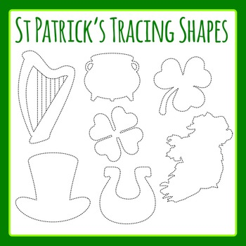St Patrick's Day Tracing Shapes for Commercial Use