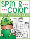 St. Patrick's Day Vowel Spin FREEBIE