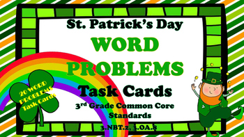St. Patrick's Day Word Problems Task Cards