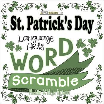 St. Patrick's Day Word Scramble Middle & High School Langu
