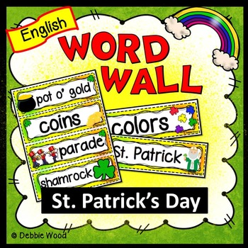St. Patrick's Day (March) Word Wall
