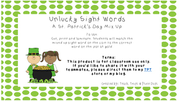 St. Patrick's Day Word mixups