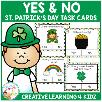 Yes & No St. Patrick's Day Picture Question Task Cards