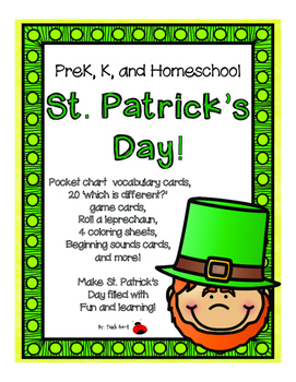 St. Patrick's Day activities for Pre-K, K, and Homeschool!