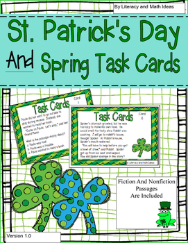 St. Patrick's Day and Spring Task Cards