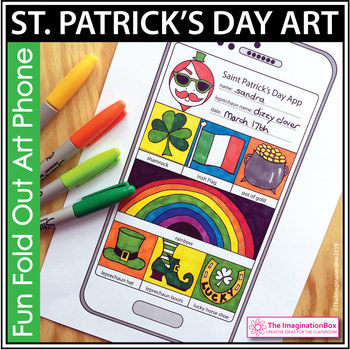 St Patricks Day 'artphone' art and craft activity with wordsearch