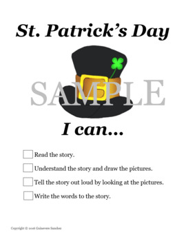 St. Patrick's Day story with prepositions for students to