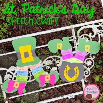 "St. Patrick's Day ""stuck"" Speech Therapy Craft {articulati"