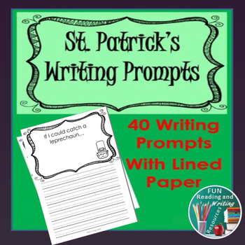 St. Patrick's Day - Writing Paper with 40 Different Writin